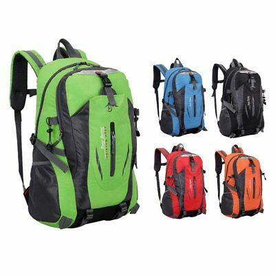 Large Capacity Nylon Unisex Travel Backpack Waterproof Hiking Camping YP