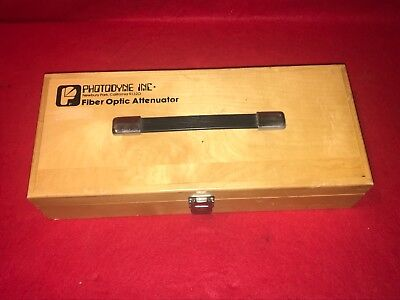 Photodyne Model 1900 FB Fiber Optic Attenuator With Accessories & Wooden Case