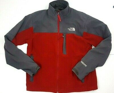 The North Face WindStopper Red & Grey Mens Zip Up Jacket Size Large