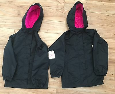 Faded Glory Girls Jacket, Raincoat, Winter  Size 4/5, pink/black, style# FG36775