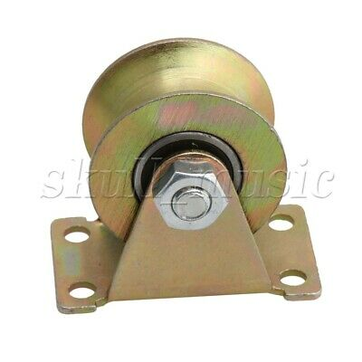 49mm Dia 45# Steel U Groove Rigid Caster Wheel with 661Lbs Load Bearing