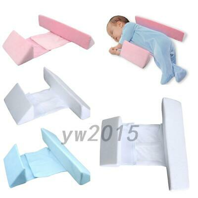 Infant Newborn Baby Sleep Pillow Anti Roll Adjustable Width Cover Removable
