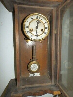 Small Decorative Wall Clock With Striking Mechanism 1880 - 1920