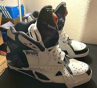 62d770e5f4fd Reebok Pump Hi Top Blacktop Battleground White size10.5 Rare Retro free  shipping