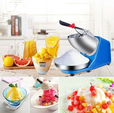 300W 220V Stainless Steel Electric Ice Shaver Crusher Snow Cone Maker Machine