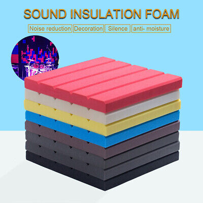 7 Color Acoustic Panels Tiles Studio Sound Proofing Insulation Closed Cell Foam