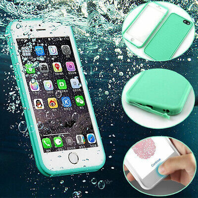 For iPhone 10 X 8 7 Plus 6s 5 Waterproof Shockproof Hybrid Rubber TPU Case Cover