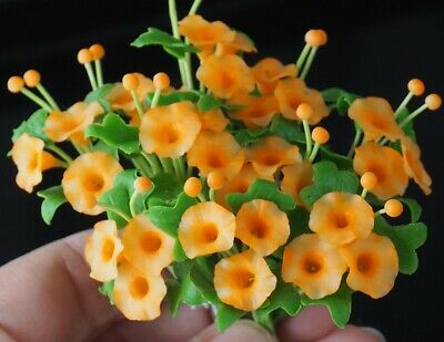 10 Pcs Miniature Handmade Clay Colorful Pansy Flowers Home Decorative