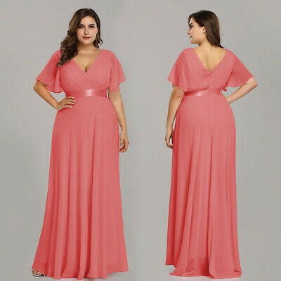 Women's Clothing Ever-pretty Us Plus Elegant V-neck Purple Long Mother Of Bride Maxi Dress 09890 Clothing, Shoes & Accessories