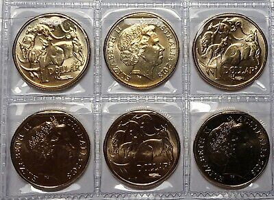 5 coins 2018 $1 Mob of Roos ex sec bag Uncirculated MOR in coin pockets