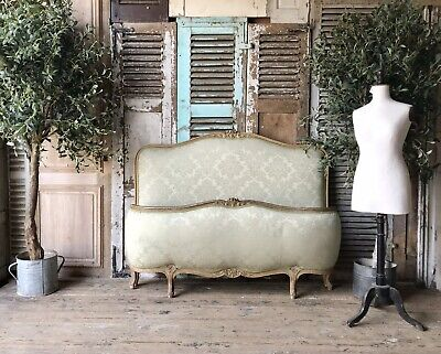 Beautiful French Upholstered Demi Corbeille King Size Bed Frame