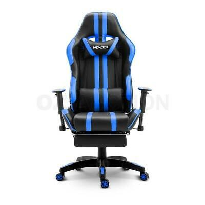 Ergonomic Gaming Racing Office Computer Chair PU Leather w/Retractable Footrest