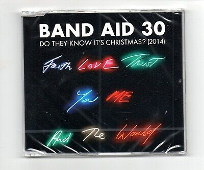BAND AID 30 DO THEY KNOW IT'S CHRISTMAS INC 4 VERSIONS 1984-2014 in wrapper
