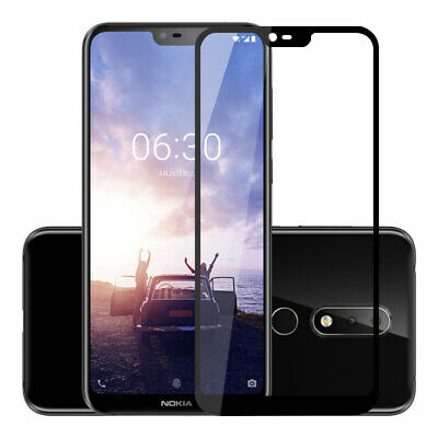 Nokia 8.1 7.1 3.1 6.1 X6 5.1 Plus Tempered Glass Screen Protector Full Coverage