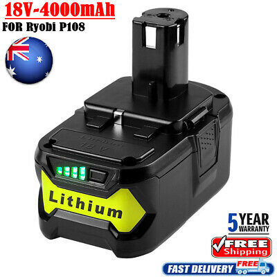 18V For RYOBI One+ Plus P108 Battery RB18L50 P104 P102 P105 P107 RB18L40 P109 AU
