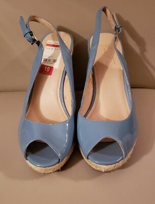 7eed5ffdded Marc Fisher Excellent Women US 10M Medium Baby Blue Wedge Sandal NWOB