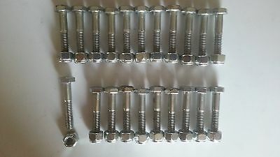 Gravity Conveyor Skate Wheels 1-15/16 x 9/16 x 1/4  w/Nyloc Nuts/Bolts - 100 pcs