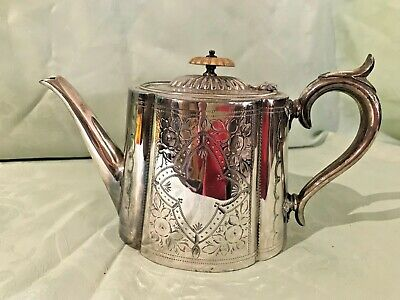 Antique Silver Plated E.P.B.M Ovoid Teapot
