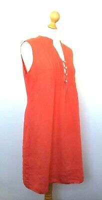 024bb4ad17 LINA TOMEI (Made in Italy) Fabulous Coral Linen Lagenlook Tunic Dress XL