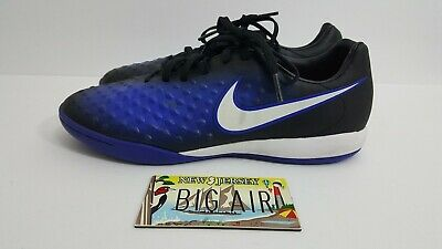 a6df5a89ae96 Nike Magista X Onda II IC Indoor Soccer Shoes Black Blue 844413-015 Size 7.5