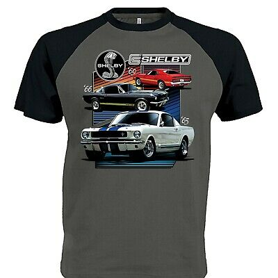Mens Ford Carroll Shelby Mustang T Shirt American Classic 69 GT 500 Muscle Car