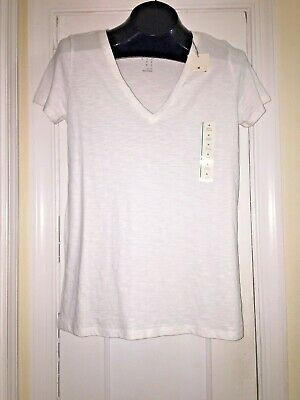 4757b2d0b NEW MOSSIMO WHITE V-neck S/S Stretch T Shirt Size Small - $9.99 ...