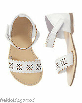 NWT GYMBOREE Egg Hunt White Sandals Shoes Kid Girl and Toddler Sizes