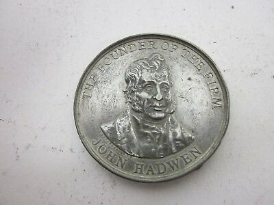 Antique John Hadwen Industrialist Silk Miller Unusual Centenary Medal Coin