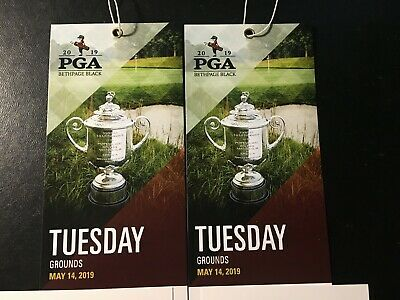 2019 PGA Championship 2 Tickets ~ Tuesday May 14 Practice Grounds Pass Bethpage