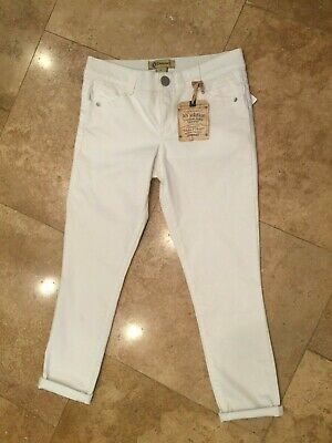 23f599907a2 Democracy White Ab Solution Stretch Freedom Ankle Skimmer Jeans Size 6 Nwt