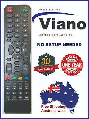 NEW Viano Replacement TV/DVD Remote Control - Suits Most Models, no setup needed
