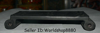 "11.2"" Old China Dynasty Ebony Black Wood Dynasty Palace insense burner table"