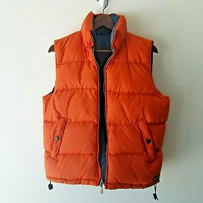 TEMPCO Puffer Vest Reversible Orange Blue Insulated Zip Front Size XL Outdoors
