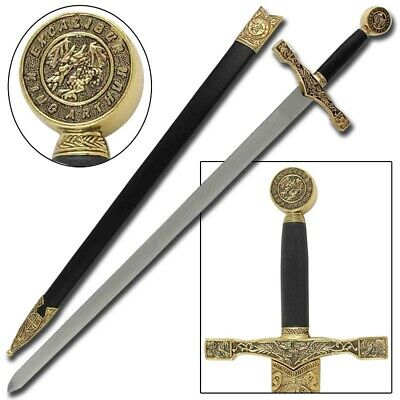 King Arthur Excalibur Replica Medieval Long Sword with Scabbard