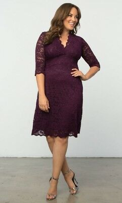 KIYONNA PLUS SIZE Dress Size 2X Black Lace Gown Screen Siren ...