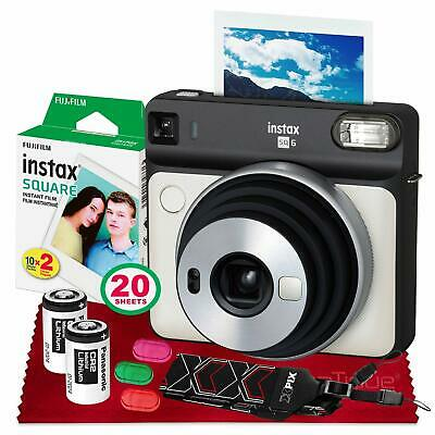 Fujifilm instax SQUARE SQ6 Instant Film Camera (Pearl White) with Fujifilm Insta