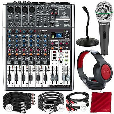 Behringer XENYX X1204USB 12-Input USB Audio Mixer with Effects and Dynamic Micro