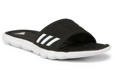 d37ff7c6600b New Adidas Women s Adipure CF Cloudfoam Sandals Slides Black   White Size  ...