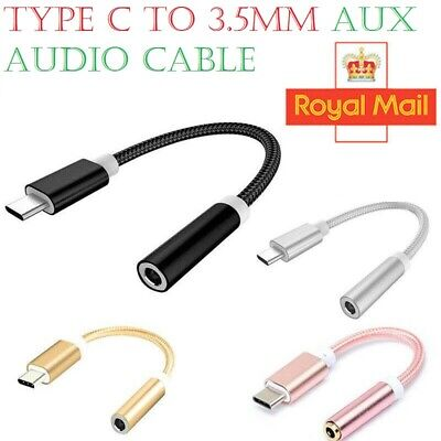 USB-C Type C To 3.5mm Audio Aux Headphone Jack Cable Adapter For Android Samsung