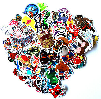 100pcs Vinyl Laptop Skateboard Stickers Luggage Decals Dope Car Bicycle Sticker