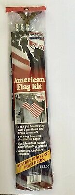 AMERICAN PATRIOT AMERICAN FLAG KIT WEATHER RESISTANT MOUNTING HARDWARE 3ft X 5ft