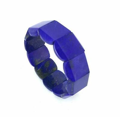 Natural lapis lazuli stone bracelets made by Afghan precious minerals