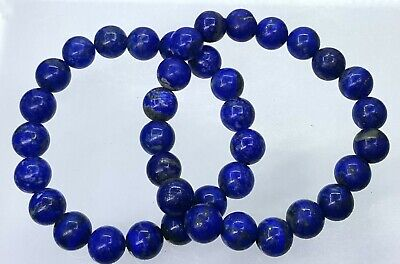 natural lapis stone Round 8 mm beads breaclet made by Afghan precious minerals