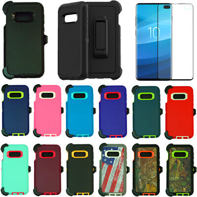 For Samsung Galaxy S10e Case Cover W/Screen (Belt Clip Fits Otterbox Defender)