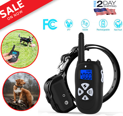 Pet Dog Training Collar Remote Rechargeable Waterproof Electric Shock Vibrate US
