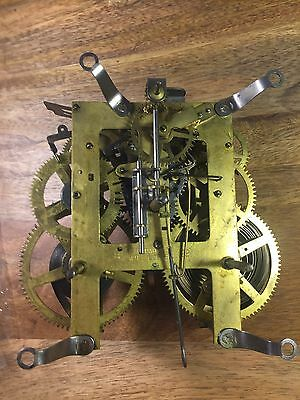 Old Ingraham 8 Day Clock Movement (Stamped 8 22)  (Lot A401)