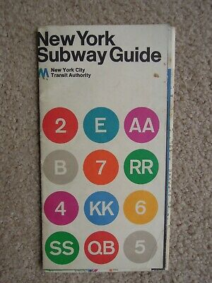 Massimo Vignelli 1972 Nyc Subway Map.1972 Massimo Vignelli New York City Subway Map Original Edition