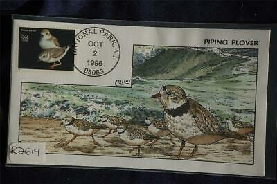 Endangered Species Piping Plover FDC Handpainted Collins#R2614 Sc#3105n Bird