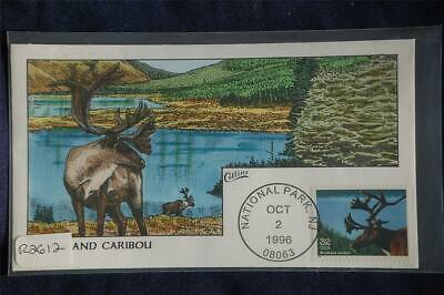 Endangered Species Woodland Caribou FDC Handpainted Collins#R2612 Sc#3105l