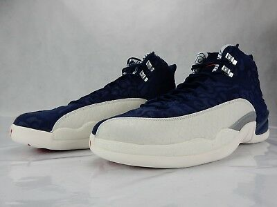 competitive price 0abbb 91c14 Nike Air Jordan 12 Retro International Flight College Navy BV8016 445 Size  11 DS